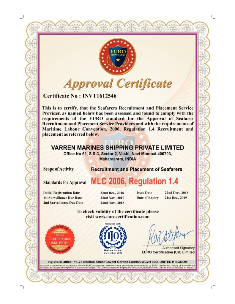 VMS_Shipping_Certifications
